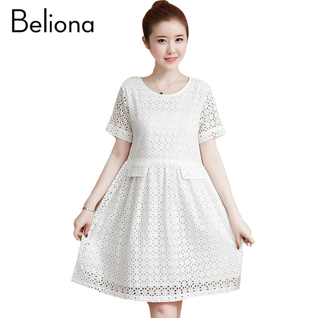 Elegant Lace Hollow Maternity Dress Summer 2017 Vintage Clothes Fashion Pregnancy Clothing For Pregnant Women