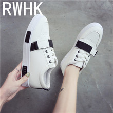 RWHK 2019 spring shoes female Korean version of the student magic paste flat comfortable color matching fashion B368