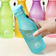 Hot ! 550mL BPA plastic water bottle Fashion Portable Leakproof Unbreakable Travel Sport Lemon Juice Drinkware Water Bottle
