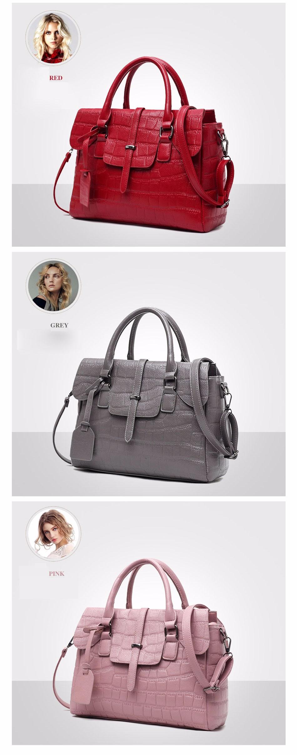 High Quality PU Leather Women's Handbags Shoulder Bag Ladies Hand Bags Stone Casual Women Bag Large Capacity Handbag 17 Sac 8