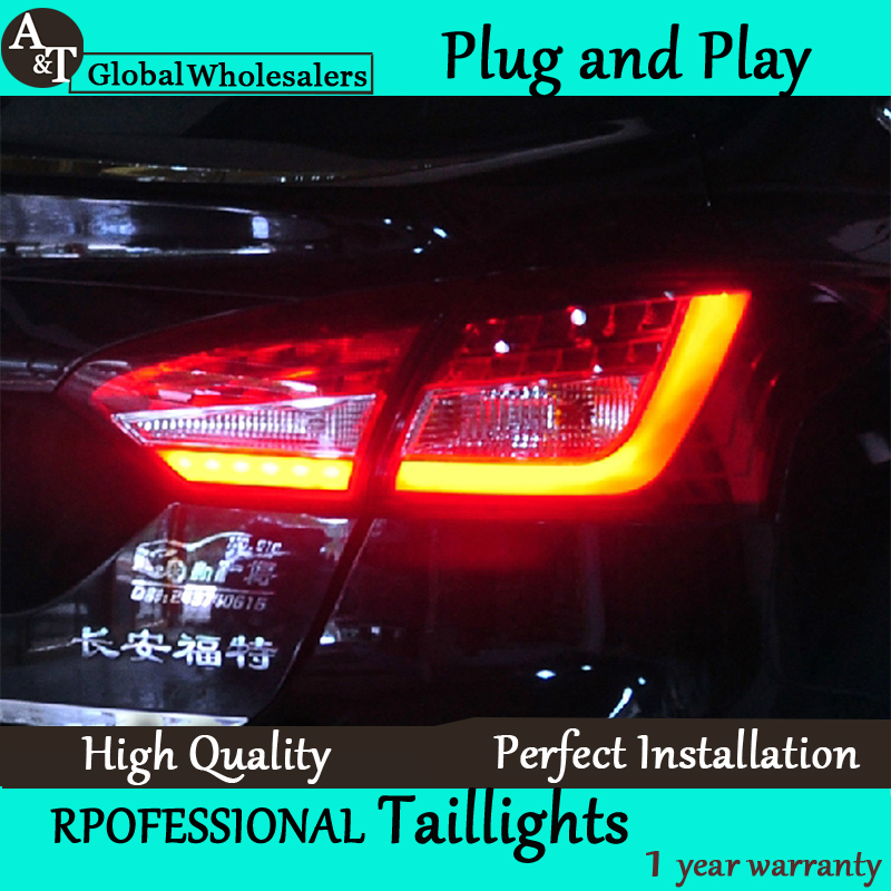 A&T Car Styling for Ford Focus 3 Taillights 2012-2014 New Focus Sedan LED Tail Light Rear Lamp DRL+Brake+Park+Signal