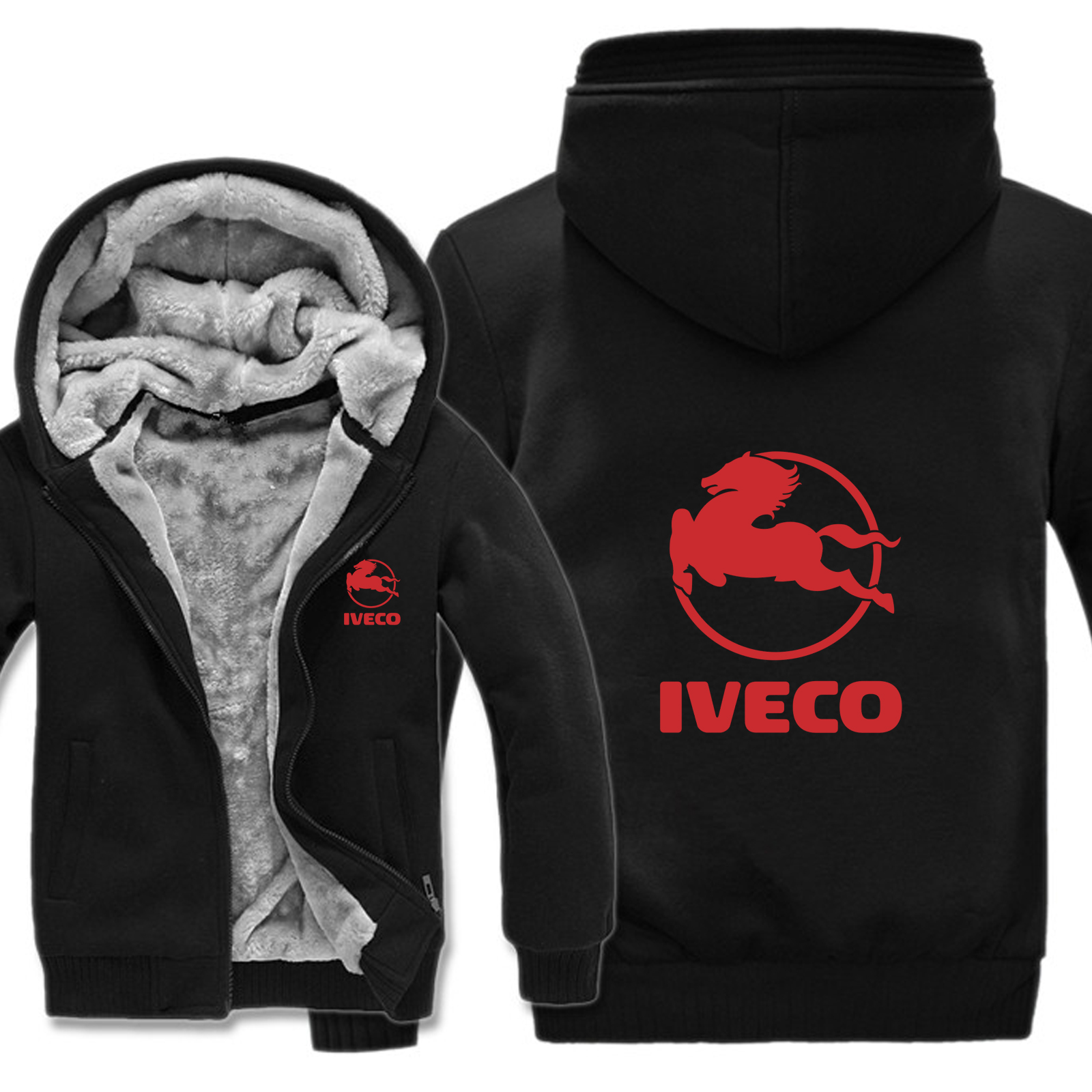 Image 3 - Winter Iveco Truck Hoodies Men Fashion Coat Pullover Wool Liner Jacket Iveco Sweatshirts Hoody HS 004-in Hoodies & Sweatshirts from Men's Clothing