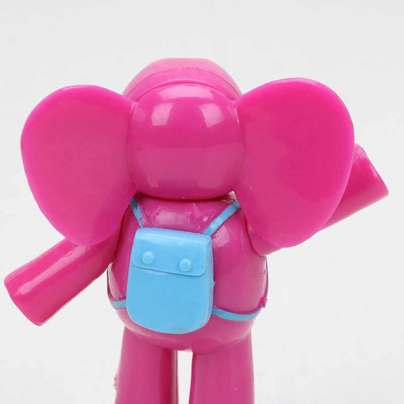 5 pçs/set 5-10 cm Pocoyo ELLY pato Loula Nina Sonolento pássaro Elefante Ação PVC Figuras Brinquedos