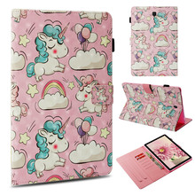 Case For Samsung Galaxy Tab S4 10.5 inch T837 T835 SM-T830 SM-T835 Smart Cover Fundas Tablet 3D Unicorn Painted Wallet Soft