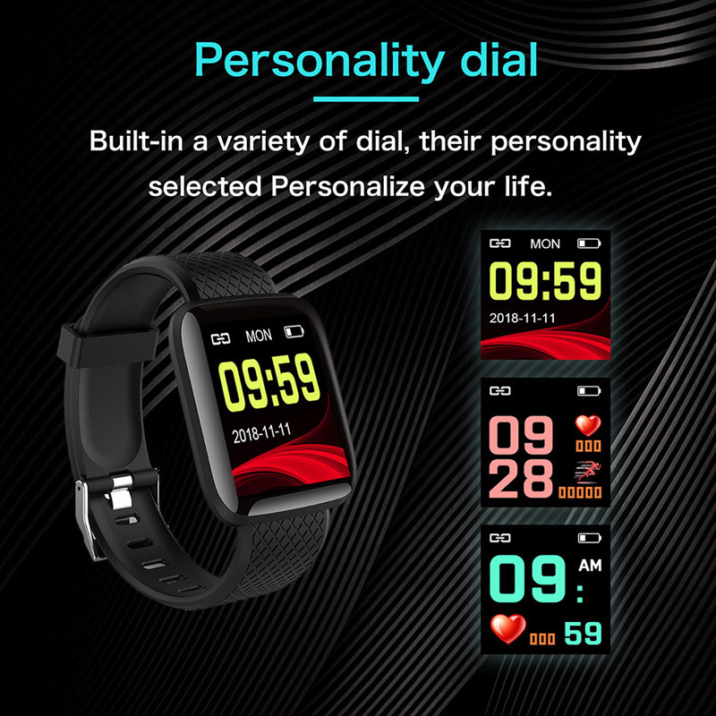 Smart Watch Blood pressure Measurement Heart Rate Monitor Call Reminder SmartBand Health Wristband Smart Band Fitness Bracelet in Smart Wristbands from Consumer Electronics