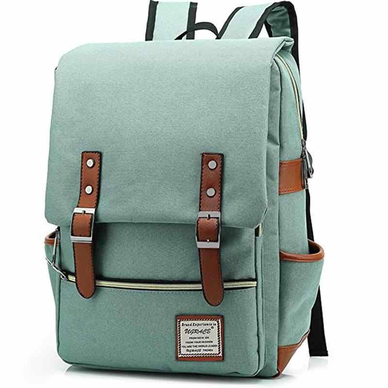 a54a39452f42 Fashion 2018 Vintage Men Women Backpacks School Canvas Bags Retro Oxford Large  Capacity Laptop Backpack For