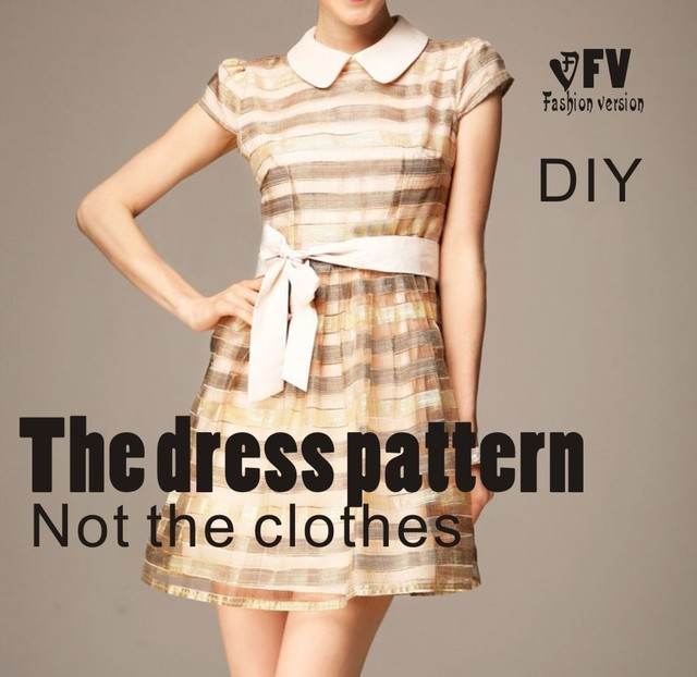 Clothing Diy The Dress Dresses Sewing Pattern Cutting Drawing Dress
