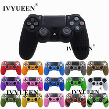 Ivyueen 20 Warna Anti-Slip Silicone Cover Kulit Case untuk Sony PlayStation DualShock 4 PS4 DS4 Pro Slim Controller & Stick Grip(China)