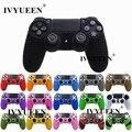 IVYUEEN 17 Renkler Anti-kayma Silikon Kapak Cilt Kılıf Sony PlayStation Dualshock 4 PS4 DS4 Pro Ince Denetleyici & çubuk Kavrama