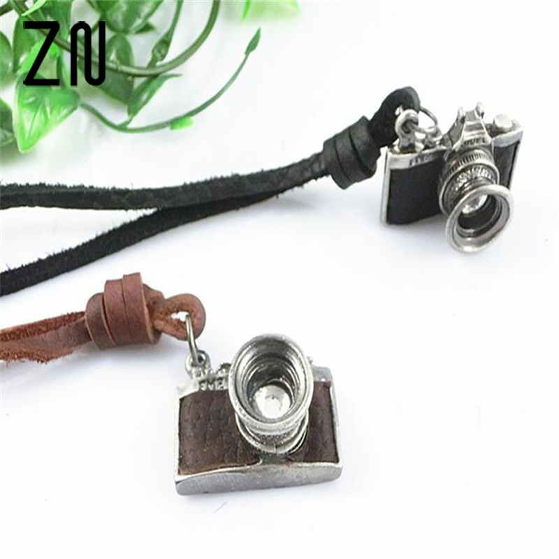 ZN 2018 New Vintage Cartoon Camera Sweater Chain Watch Pendant Necklace For Women Korean Style In Necklaces From Jewelry Accessories On