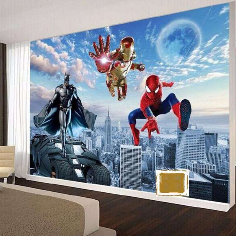 Buy beibehang mural batman iron man for Chinese movie mural