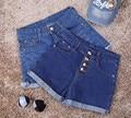 2016 весной и летом отверстие стрейч керлинг грудью высокая талия джинсовые шорты женские свободные и удобные женщины джинсы S2160