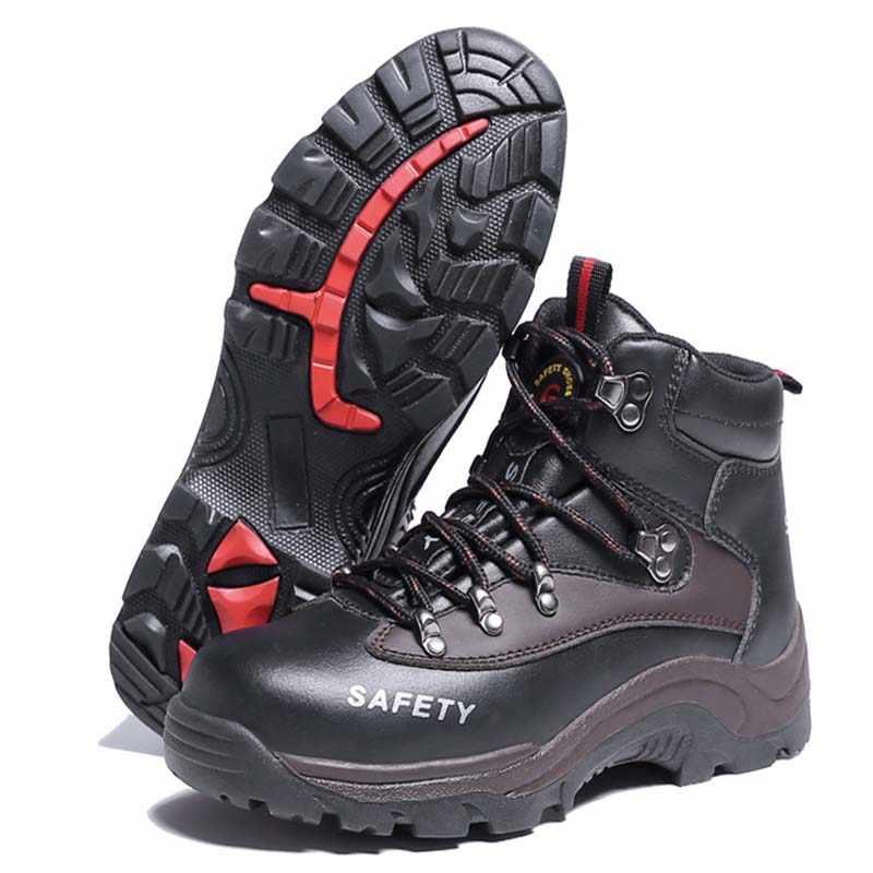 2019 Новая мужская защитная обувь, строительные уличные ботинки со стальным носком, мужские рабочие ботинки