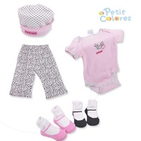 0 6M 5 Pcs Newborn Baby Gift Sets Baby Rompers Pants Two Pairs Of Socks Hat