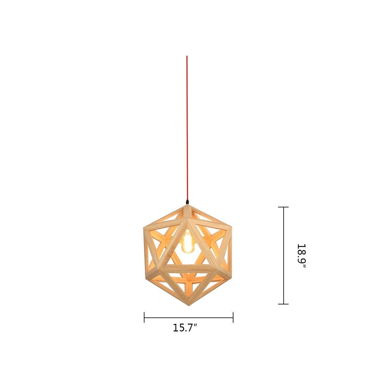 Aliexpress Com Buy Nordic Wood Chandelier Hexahedron