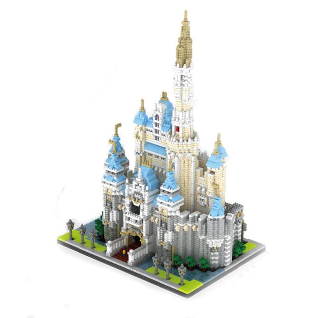 4708 Pcs Nano Cinderela Princesa Castelo Modelo de Construção Da Cidade Blocos de Construção Minifigures Bloco Brinquedo do Miúdo Presente Compatível Legeo