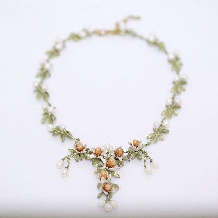 Elegant elegant beautiful nerolic orange flower necklace fashion jewelry female