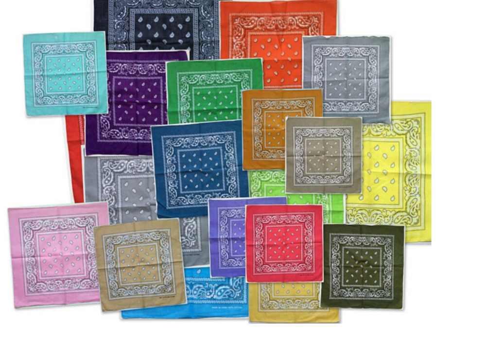 34 couleurs! 55CM * 55CM nouveau hip-hop coton mélangé marque Bandanas pour hommes femmes magique tête écharpe écharpes H anniversaire cadeau