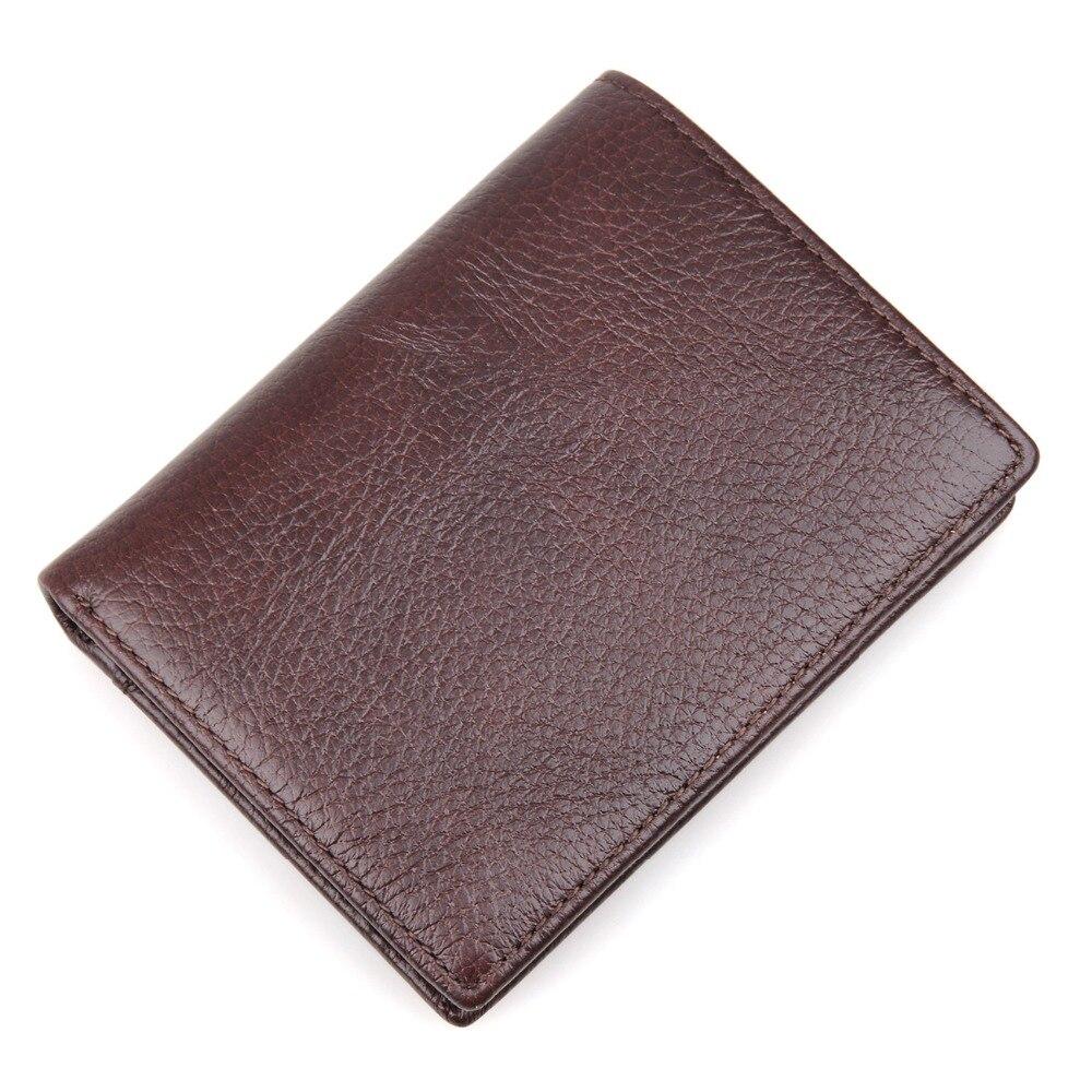 цена J.M.D Genuine Tanned Natural Leather Billfold Wallet Men's Card Case For Men Money Purse R-8142-2C онлайн в 2017 году