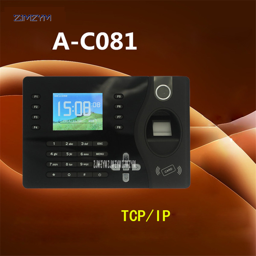A-C081 Realand Fingerprint Recorder Employee Time Attendance Machine Black Color Design Attendance System With Free Software 12V image