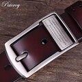 [PATEROY] cinturón Cinturones de Diseño de Los Hombres Pantalones Vaqueros de Alta Calidad Carta Hombre Hebilla de Cinturón de Hebilla Retro Marca de Moda de Cuero Piel de Vaca de La Vendimia