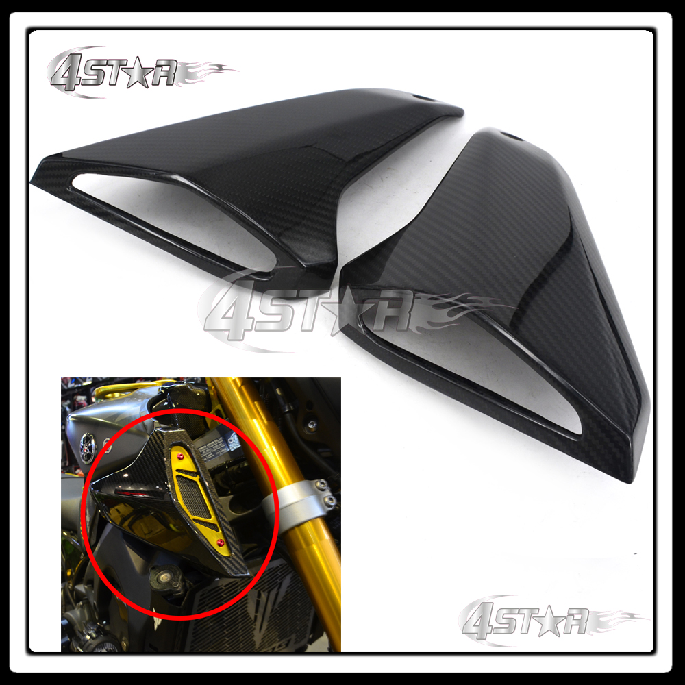 Motocross Carbon Fiber Gas Tank Side Cover Trim Fairings Protection Cover For Yamaha MT-09 FZ-09 MT09 FZ09 014 2015 2016 for yamaha mt 07 mt 07 fz07 mt07 2014 2015 2016 accessories coolant recovery tank shielding cover high quality cnc aluminum