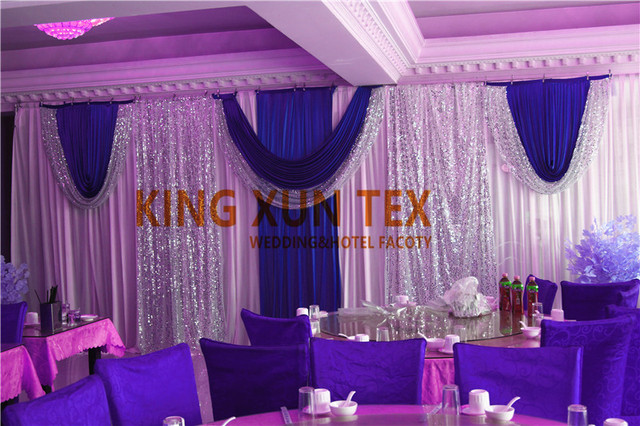 The Best Sale White And Royal Blue Wedding Backdrop Stage Background ...