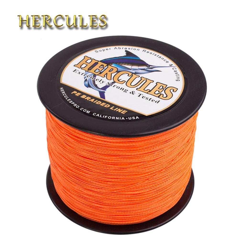 Hercules tressé ligne de pêche 2000 M carpe pêche PE tressé fil 4 brins Multifilament fort 6-100LB gros jeu eau salée Pesca
