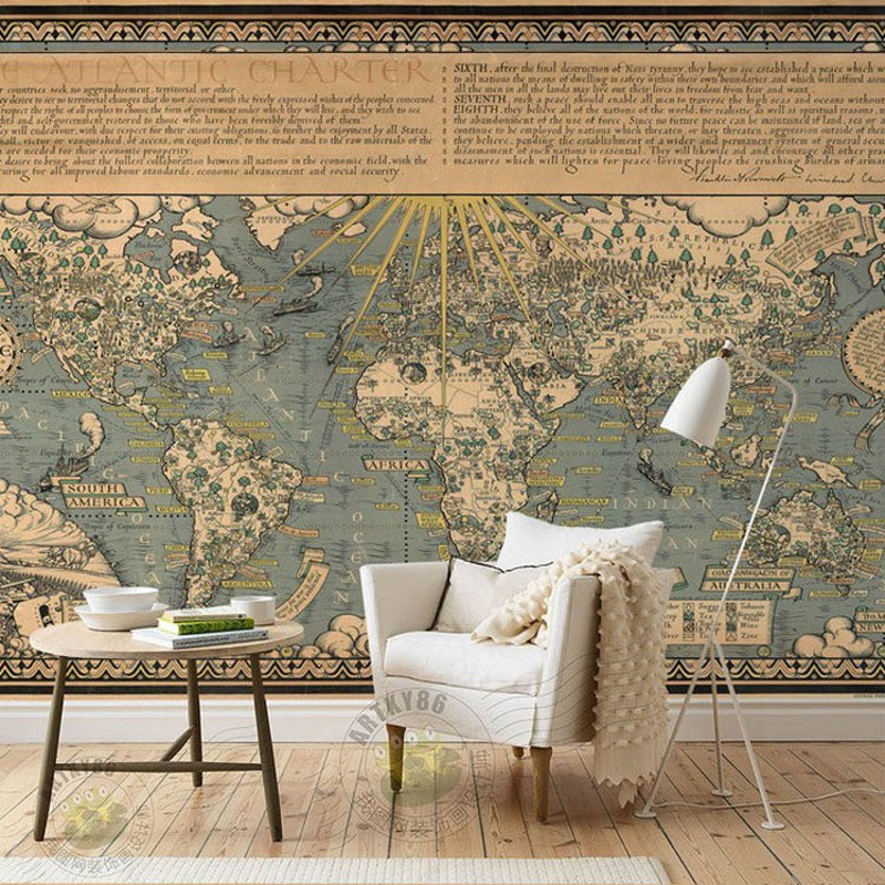 Custom mural world map living room sofa wallpaper restaurant background mural 3D stereo HD Cafe wallpaper murals european style murals ktv bar cafe personalized wallpaper abstract wallpaper living room sofa arts wallpaper mural