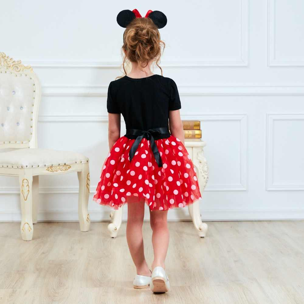 3cc7be68f2337 Fancy 1 Year Birthday Party Dress For Easter Cosplay Minnie Mouse Dress Up  Kid Costume Baby Girls Clothing For Kids 2 6T Wear