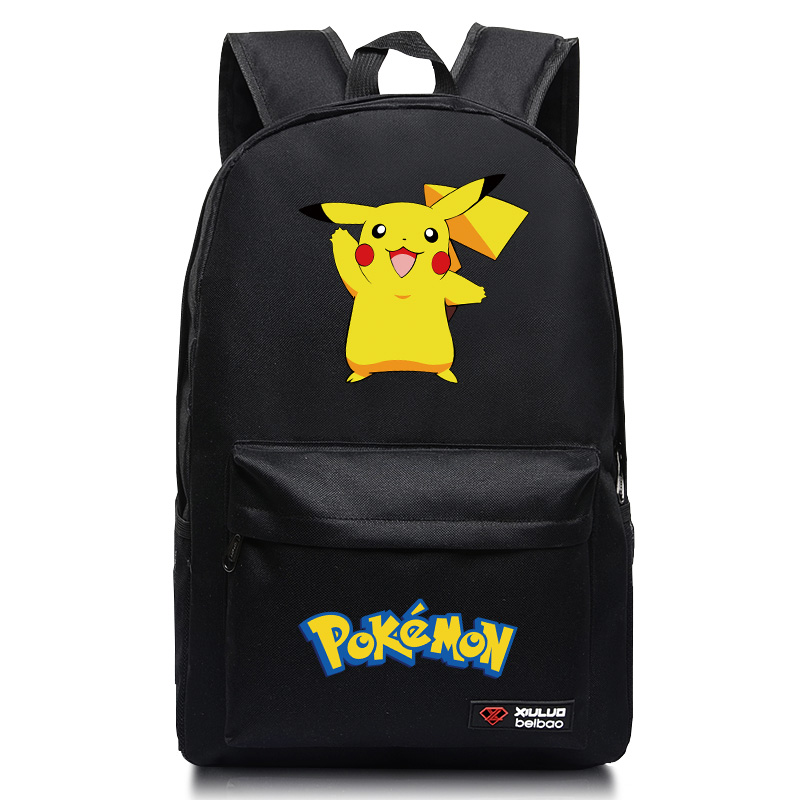 7eaf370456 New Fashion Pokemon Canvas Backpack For Boy Girl Pikachu Squirtle  Charmander School Bag For Teenagers Animation RuckSack Mochila-in Backpacks  from Luggage ...