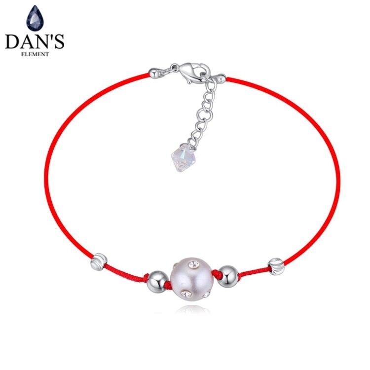 1e08f0103d6e Dan joyería thin red simulado-perla pulseras y brazaletes para las mujeres  moda nueva venta caliente del estilo del verano 113955