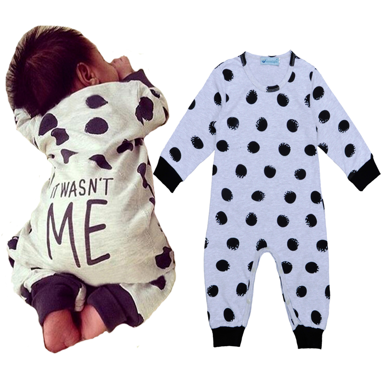 Hot Sale Baby Dot Rompers It Wasn T Me Print Newborn Baby