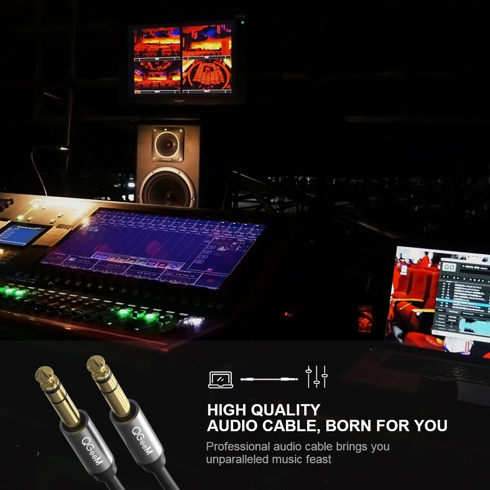 Image 4 - QGEEM 6.5mm 6.35mm Jack Audio Cable 6.35 Jack Male to Male Aux Cable 1m 2m 3m for Guitar Mixer Amplifier Bass 6.35mm Aux Cable
