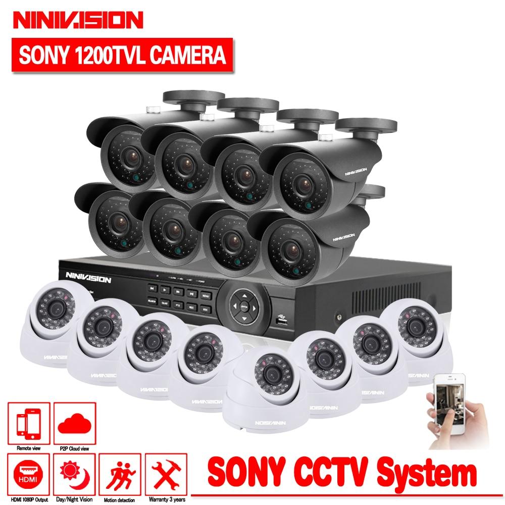 Inizio Sicurezza CCTV 16CH DVR sistema Video Della Telecamera 16 pz Sony 1200TVL Esterni, impermeabile 3.6mm Kit telecamera di sorveglianza 16 canaleInizio Sicurezza CCTV 16CH DVR sistema Video Della Telecamera 16 pz Sony 1200TVL Esterni, impermeabile 3.6mm Kit telecamera di sorveglianza 16 canale