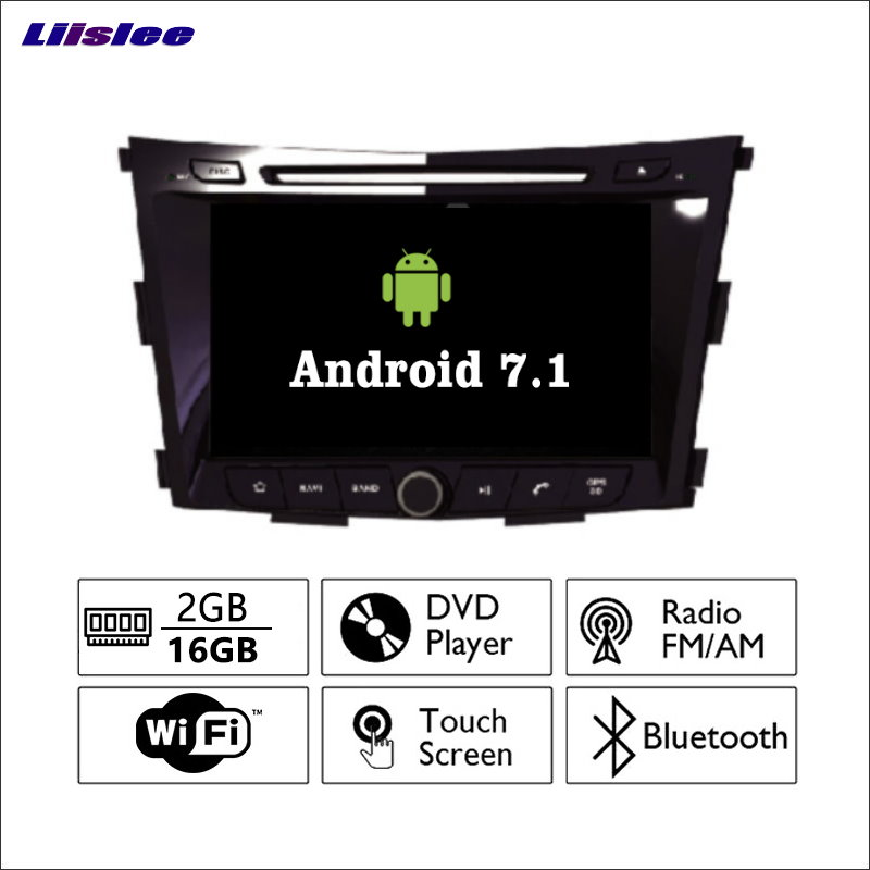 цена Liislee Android 7.1 2G RAM For SsangYong Tivoli ~ Car Radio Audio Video Multimedia Player WIFI DVR GPS Navi Navigation No CD DVD