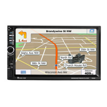 7″ 1DIN  Touch Screen Car Radio DVD MP5 Video Player+Rear CamBluetooth FM GPS Navigation with Remote Control 7020G with Map card