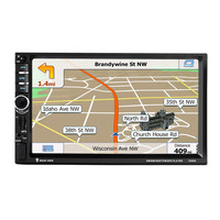 7 1DIN Touch Screen Car Radio DVD MP5 Video Player Rear CamBluetooth FM GPS Navigation With