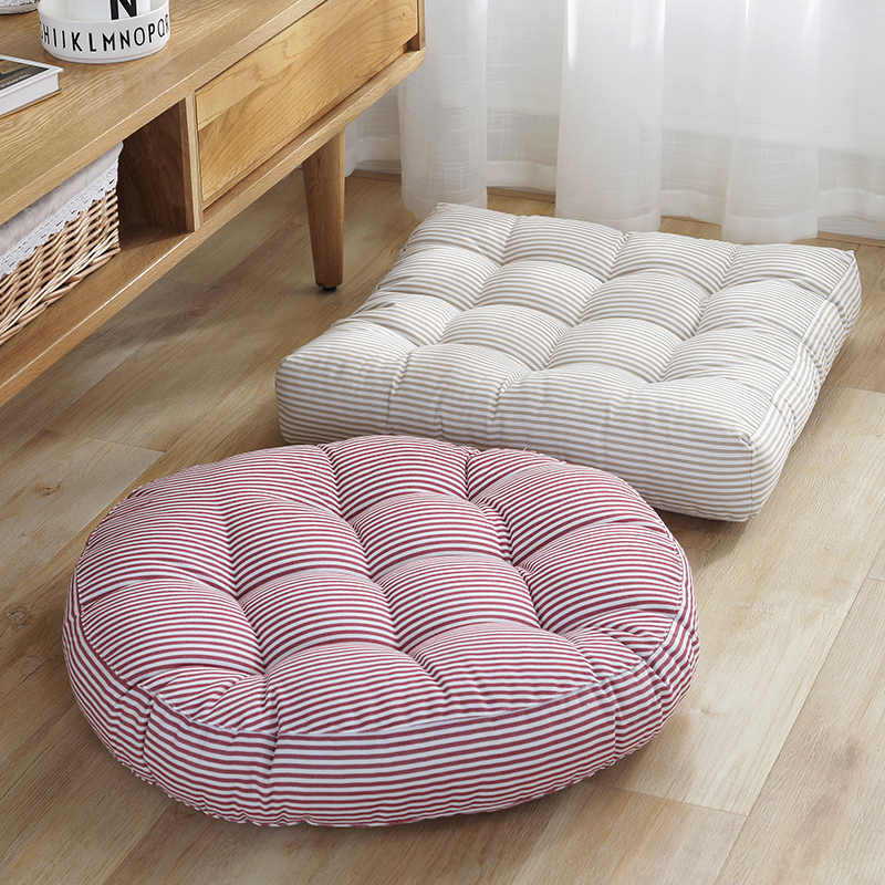 Phenomenal 42Cm 45Cm Cotton Linen Striped Dining Cushion Chair Seat Pdpeps Interior Chair Design Pdpepsorg