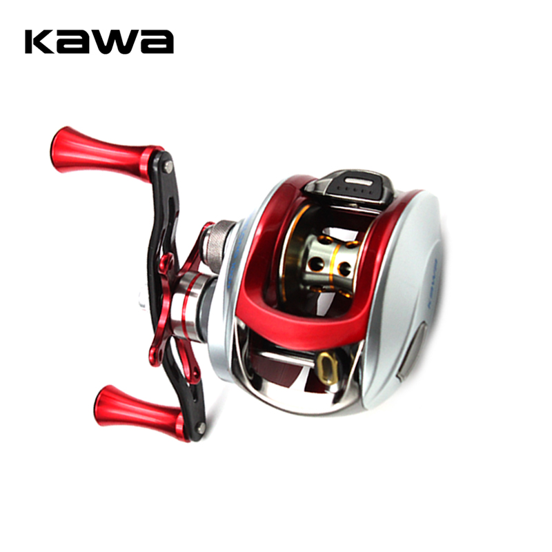 Kawa Bait Casting Fishing Reel 7.1:1 Baitcasting Reel Centrifugal Brake Carbon Handle Alluminum Alloy Knob Max Drag 6KG rover drum saltwater fishing reel pesca 6 2 1 9 1bb baitcasting saltwater sea fishing reels bait casting surfcasting drum reel