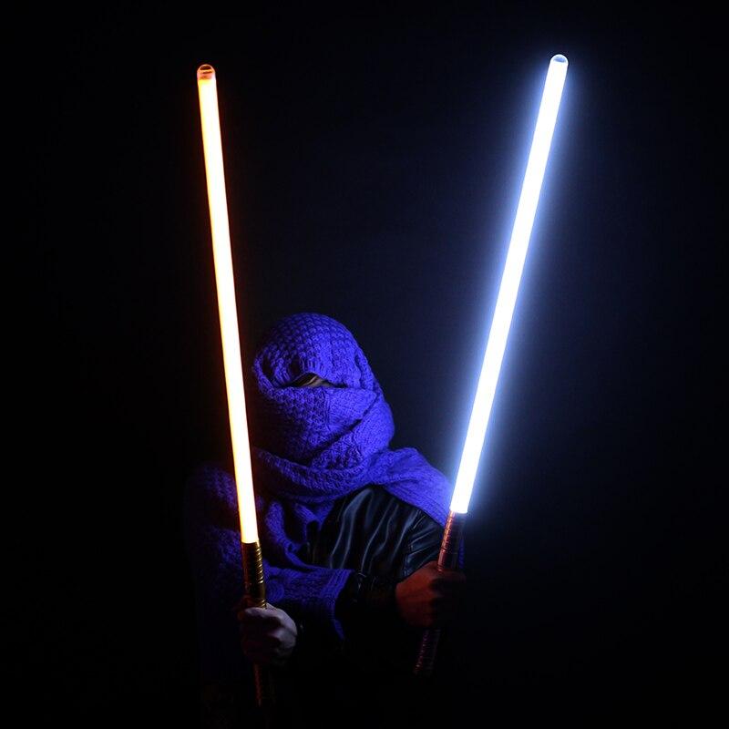 Nueva venta unids 1 pieza Cosplay 100 cm longitud sable de luz espada parpadeante Luke juguete electrónico cielo luz Saber juguete cumpleaños regalo de Navidad - 4