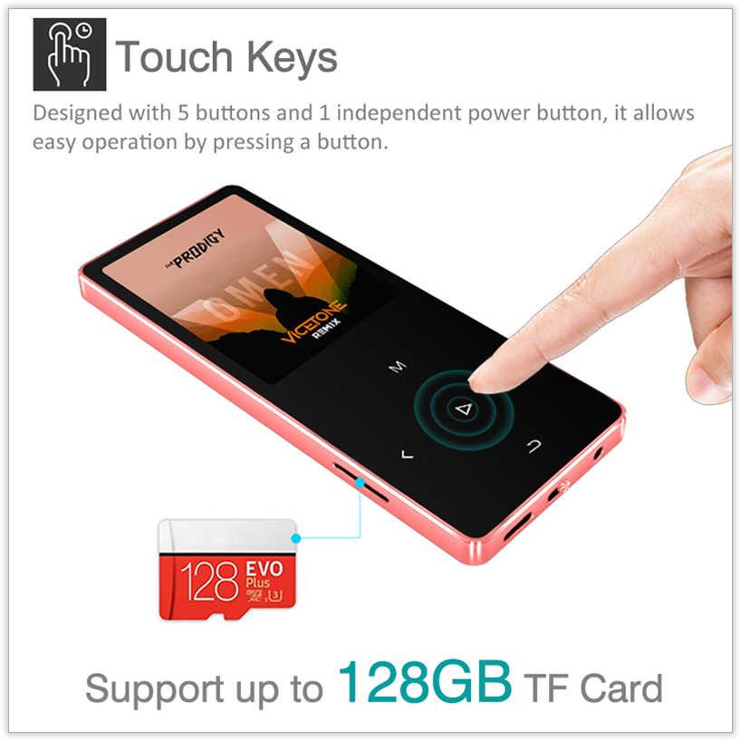 REDANT MP3 Player con Bluetooth 4.2 e 1.8 Dello Schermo di tocco tasti hi-fi radio fm mini sport MP 3 del giocatore di musica metallo portatile walkman