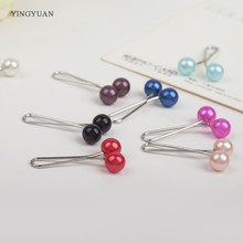 sp41 12 Pcs Muslim Hijab clip Trendy Dual Fashion Brooches  Scarf Clip Alloy Brooch Garment Accessories Women Ladies Brooches