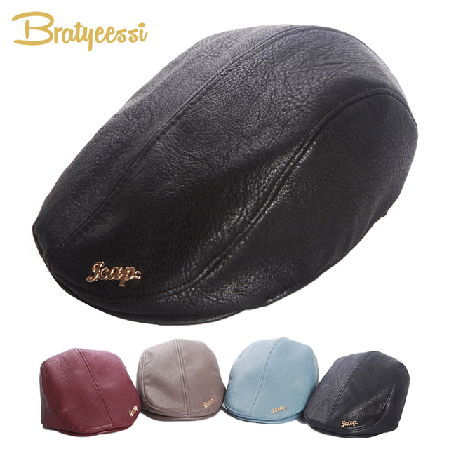 81a913fc8d Fashion Baby Hat for Boys Leather Baby Boy Hat Vintage Cap Kids Beret Hat  Elastic Infant