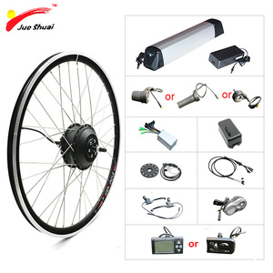 "Image 1 - 20 ""24"" 26 ""700C 27.5"" 29 ""ערכת המרת אופניים חשמליים 36V 250 W  500W גלגל מנוע חשמלי אופני ערכת עם ליתיום סוללה"