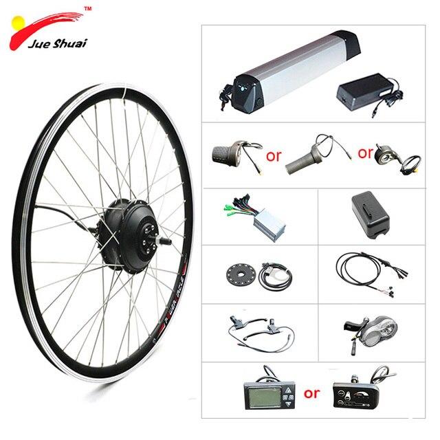 "20 ""24"" 26 ""700C 27.5"" 29 ""ערכת המרת אופניים חשמליים 36V 250 W  500W גלגל מנוע חשמלי אופני ערכת עם ליתיום סוללה"