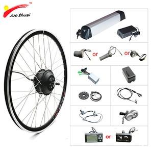 "Image 1 - 20 ""24"" 26 ""700C 27.5"" 29 ""Elektrikli Bisiklet Dönüşüm Kiti 36V 250 W  500W Tekerlekli Motor Elektrikli Bisiklet Kiti Lityum Pil ile"