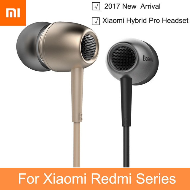 2017 New In-Ear Hybrid Pro Earphone for xiaomi mi5 Music Headsets with Microphone for Redmi Wired Sport Usage Fone De Ouvido