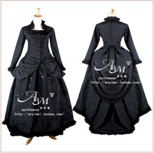 New Arrival Custom Made Lolita Dress Gothic Black Lace Luxury Cosplay Costume For Halloween