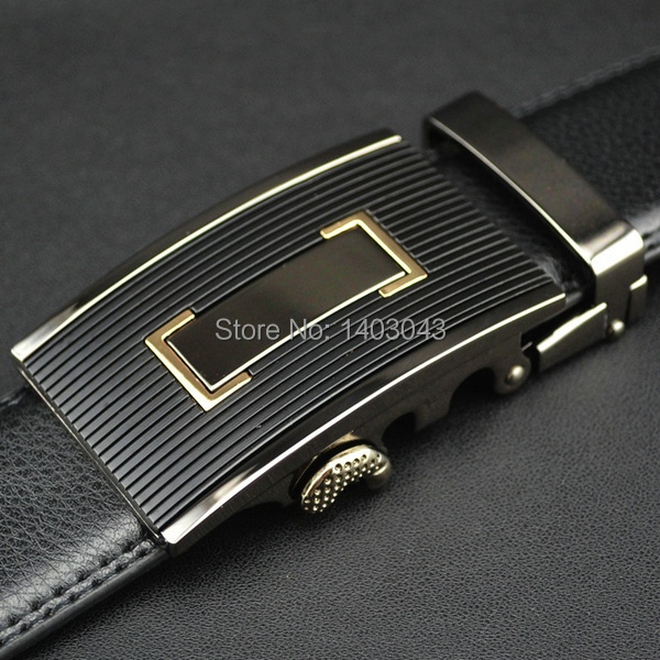 WOWTIGER Free shipping Automatic buckle belts Luxury automatically cowhide men belt brown black belts for men 5